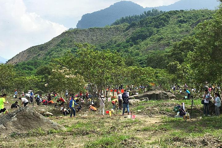 小林村遺址種樹,慈心用行動減緩極端氣候